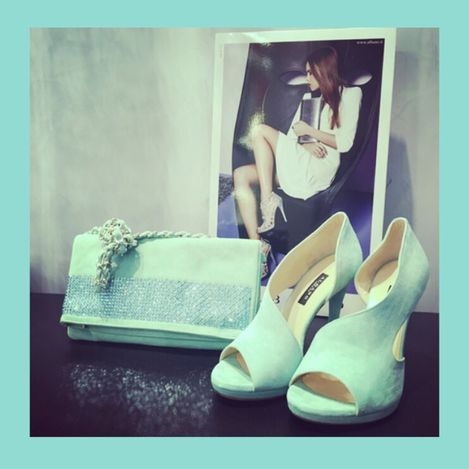 Green for your important event! Albano shoes and bags in limited edition!