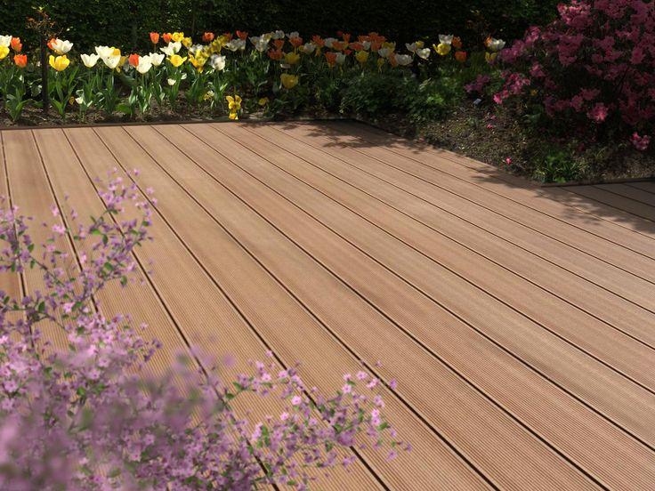 BambooGard, Massiv-Dielen, Bangkirai, 20x140x2900 mm. BPC - Terrassendielen. Die langlebige alternative zu Holz auf Terrassen, Balkon und Garten.