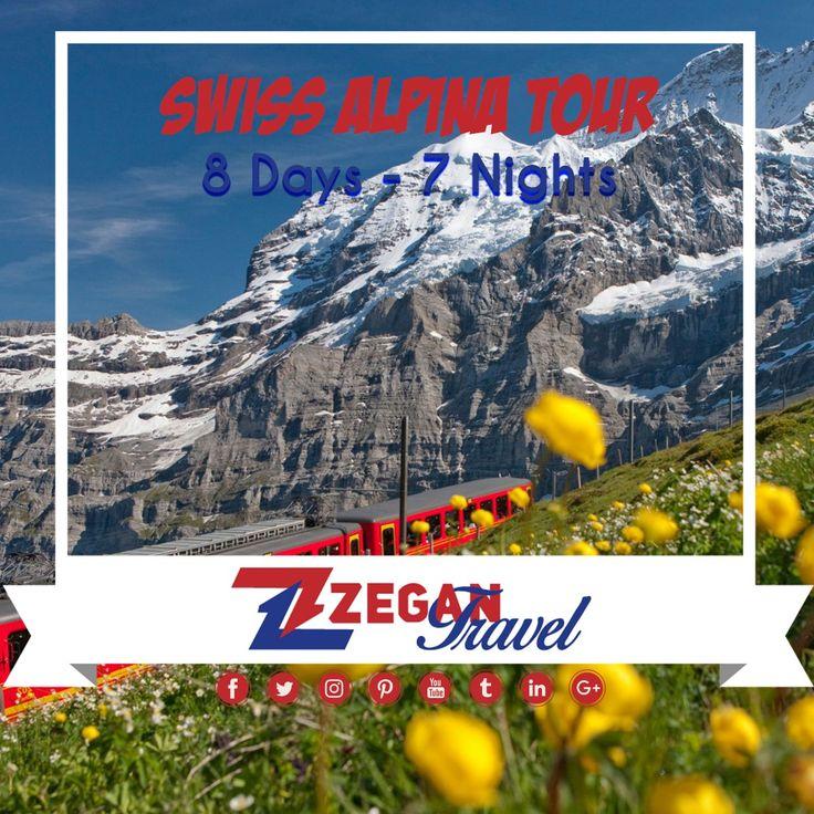 Swiss Alpina Tour (8 Days - 7 Nights) *Zurich - Davos - Klosters - St. Moritz - Disentis - Andermatt - Sustenpass - Meiringen - Interlaken - Grindelwald - Interlaken - Thun - Bern *Airport Transfers *Guided Daily Tours  Contact us now info@zegantravel.com http://www.zegantravel.om/Swiss-Alpina-Tour #europe #europetour #europetravel #switzerland #switzerlandtour #switzerlandtravel #Zurich #Davos #Klosters #StMoritz #Disentis #Andermatt #Sustenpass #Meiringen #Interlaken #Grindelwald #Thun…