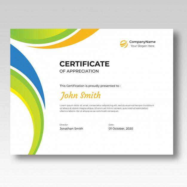Colored Certificate Design Template Certificate Design Template Certificate Design Design Template