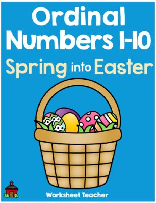 Ordinal Numbers 1-10 Spring into Easter Worksheets