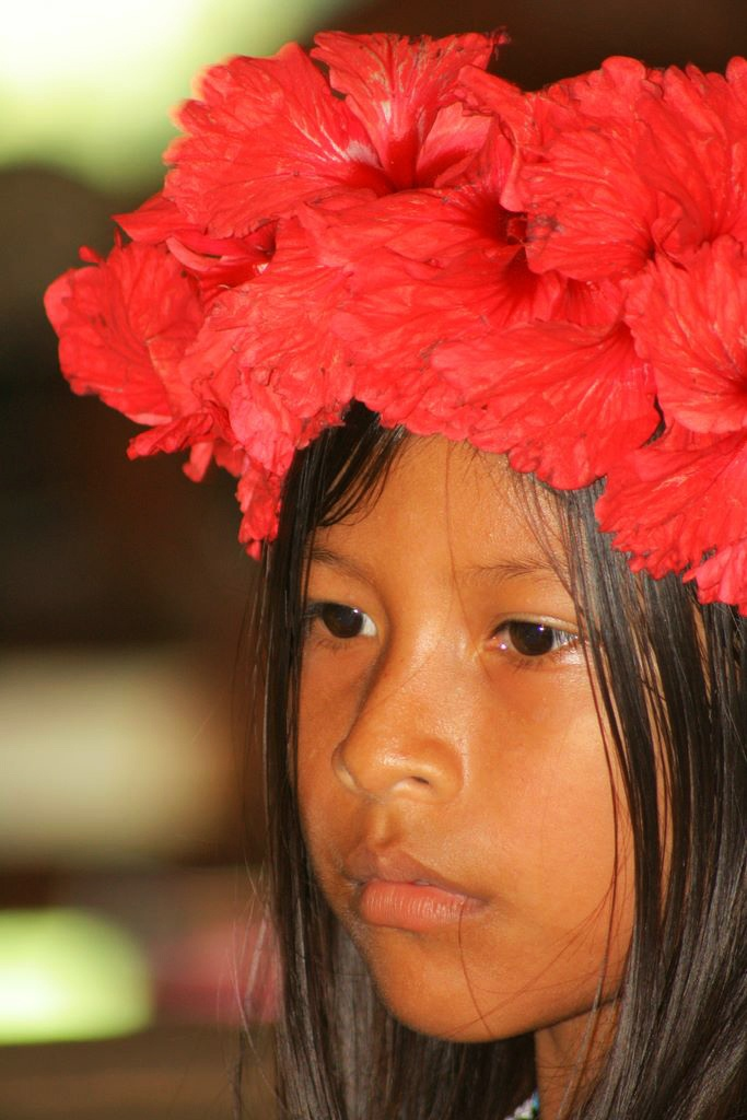 Embera people at Chagres National Park of Panama