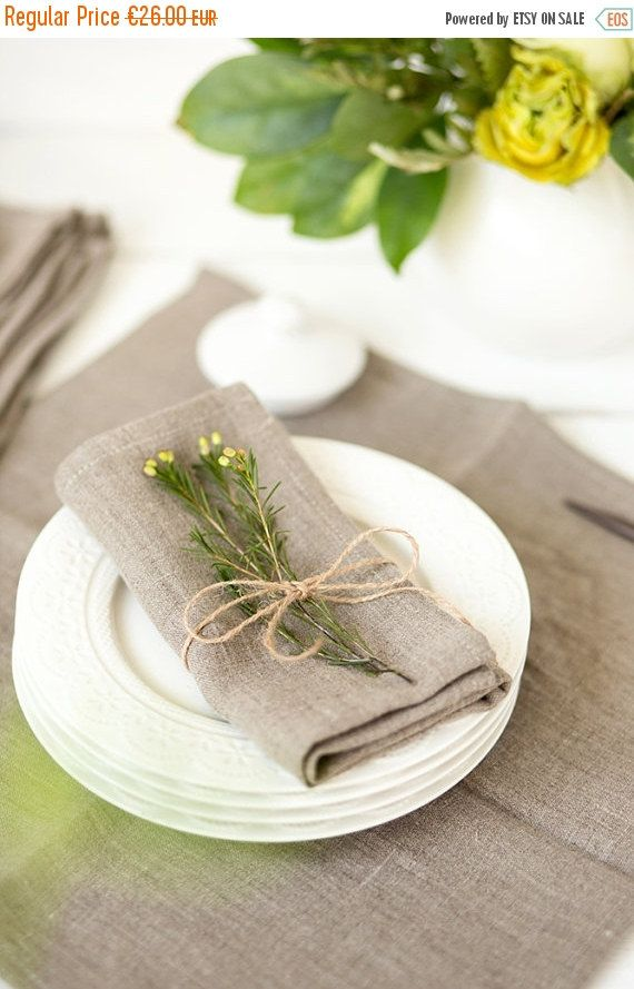 SALE Softened linen napkins set of 6  Linen by LinenHomeShop