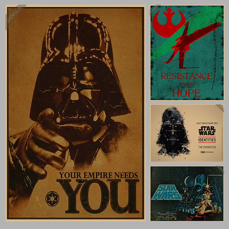 Vintage Star Wars Poster Retro art Wall home Decoration Movie poster Wall stickers p006 -- Clicking on the VISIT button will lead you to find similar product
