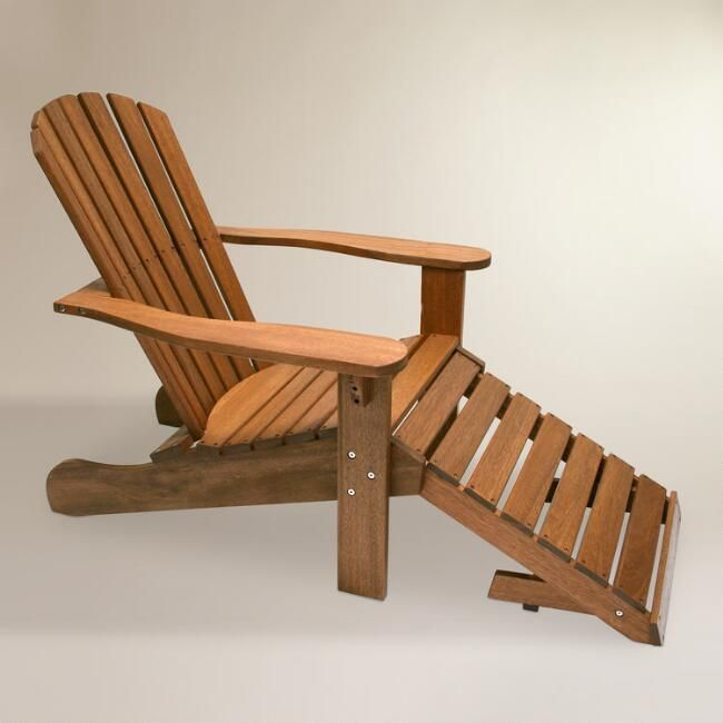 Wood Adirondack Chair with Stow Away Ottoman  World Market. Best 25  World market cost plus ideas on Pinterest   Cost world