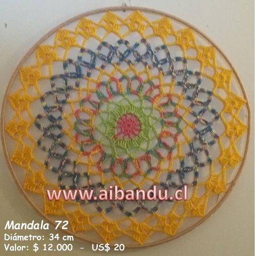 Mandala 72 .... tejido a crochet ... diametro 34