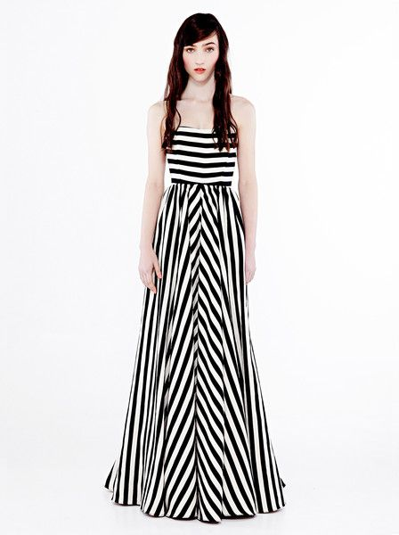 EILEEN KIRBY - All I Want Dress - Bold - Stripe - Black and White - Formal - Graduation - Evening wear - Gown  $969.90
