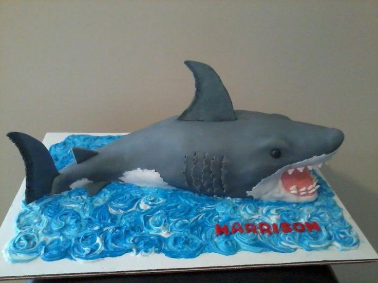 3D White Shark Cakes