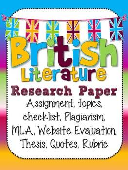 British topics for research papers