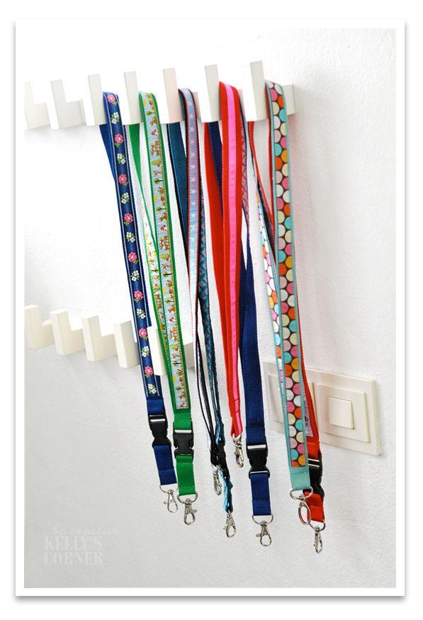 Schlüsselbänder aufgehübscht mit schönen Bändern