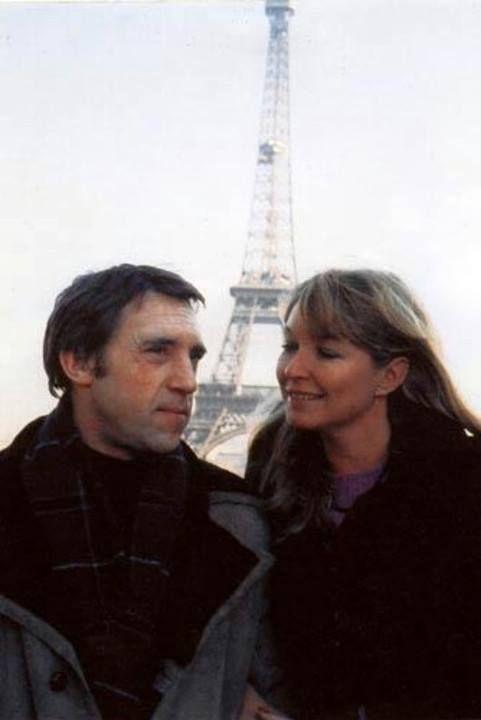 Vladimir Vysotsky and Marina Vlady, Paris, 1970s.