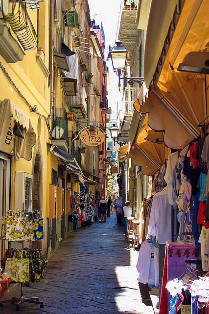 Around Town - Sorrento, Italy. Some amazing little shops here. Got so many beautiful things.