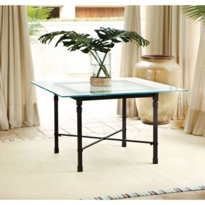 Suzanne Kasler Directoire Outdoor Square Dining Table European Inspired Hom