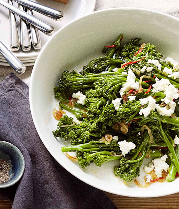 Broccolini with chilli, lemon and ricotta - Gourmet Traveller