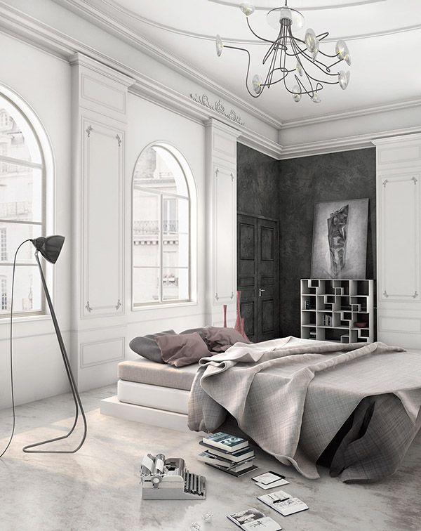 Bedroom in Paris by Atelier Crilo, via Behance