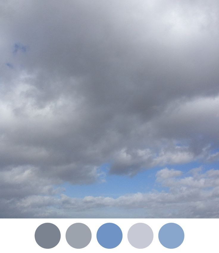 Cloudy sky inspired colour palette.