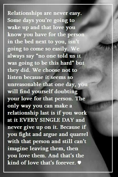 """Truth #love #relationship #quote #truth!  There is no such thing as a white picket fence and sometimes you need a break!  Then you sit down have that serious convo and if it's worth it you put this in the past!  For me it's worth it and we are back and better than ever!  Despite what immature people """"think"""" they know haha silly little girl! ;)"""