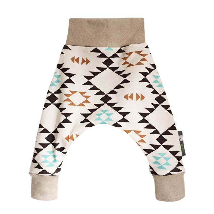Baby Organic HAREM Pants Trousers in a choice of Geometric Arrows Print - A Gift Idea for Modern Babies by bellaoski on Etsy
