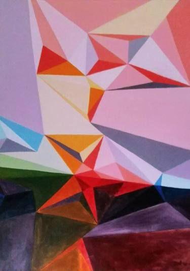 "Saatchi Art Artist Malvina - Carola Liuba; Painting, ""Mirrored Scars"" #art"