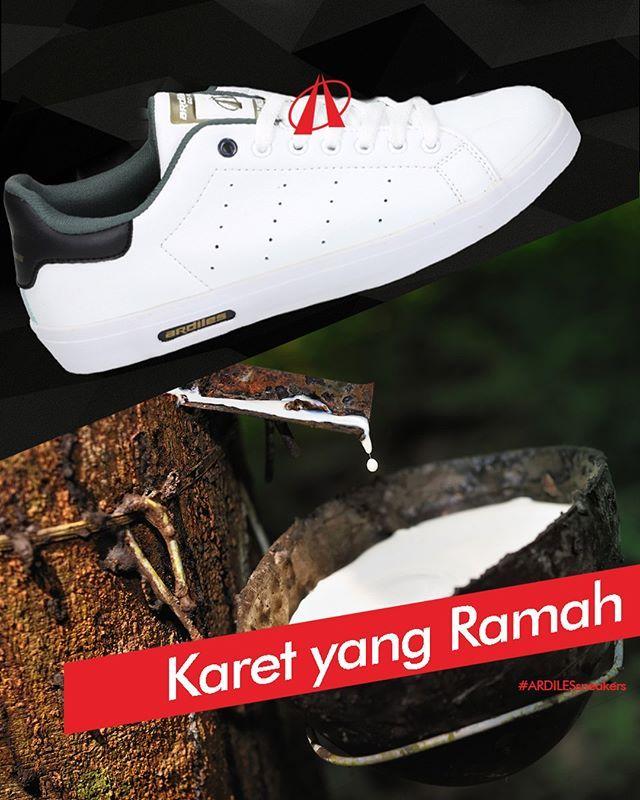 Ardiles Sneakers Lovers, karet organik yang digunakan oleh Ardiles Sneakers selain ramah lingkungan, juga ramah di kaki. Mau tipe Dominic atau Harbour, sol karet organik nyaman untuk berpijak dan nggak gampang selip.  Tapi tahukah kamu, selain sol sepatu, ban kendaraan adalah produk lain yang berbahan utama karet. Dalam produksi ban karet tiap tahun, 250 juta ban tidak lolos uji produksi. Karet yang dibuang itu diolah lagi dan menghasilkan bentuk bahan bakar alternatif selain bahan bakar…