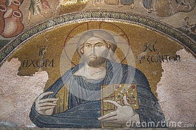 Jesus Christ mosaic in the Church of the Holy Saviour in Chora, former Byzantine church, later Ottoman mosque, and current museum in the Edirnekapı neighborhood of Istanbul, Turkey