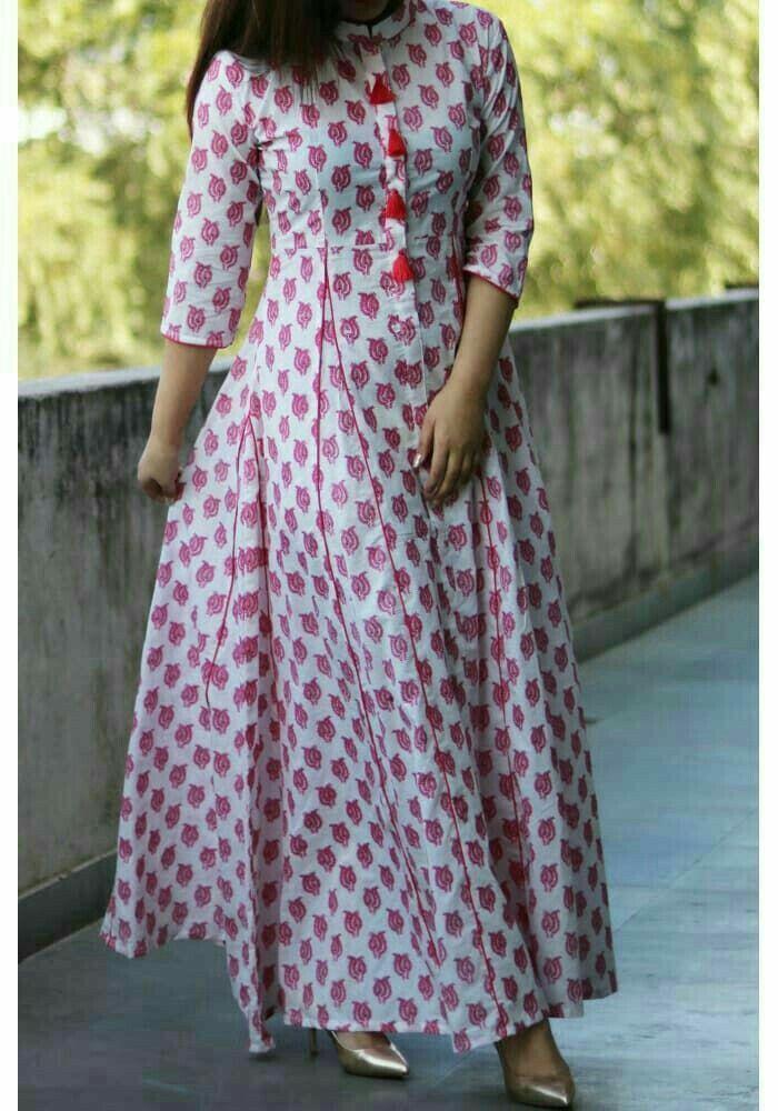 Pin By Ephadas Kabaghe On Silk Gown Kurti Neck Designs Long Kurti Designs Cotton Kurti Designs