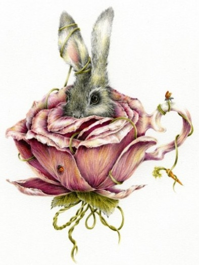 Precious bunny painting