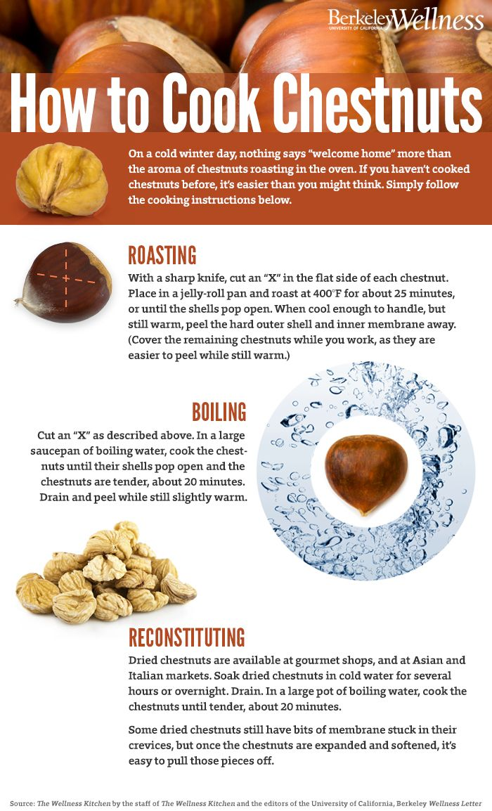 how to prepare chestnuts in oven