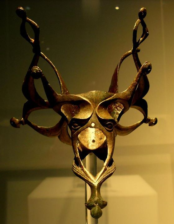 Bronze Mount from a Wooden Jug, La Téne Celtic, 3rd Century BC, Moravia, Czech Republic