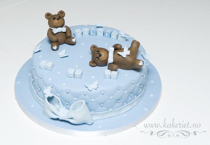 Chirstening cake with teddybears <3