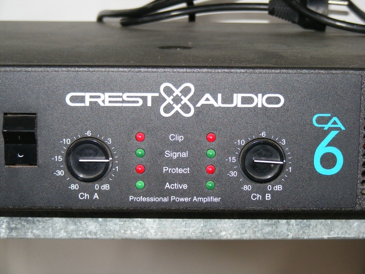 Crest – Professional Power Amplifier - Public Domain Photos, Free Images for Commercial Use