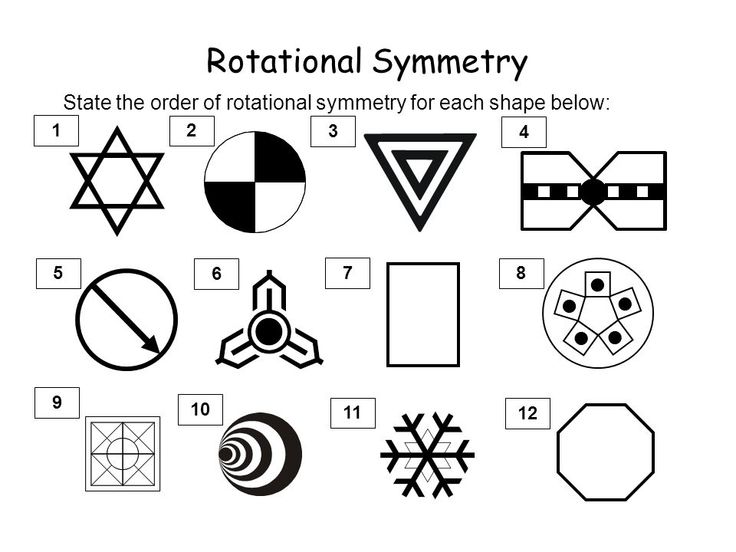 Image result for rotational symmetry worksheet with ...