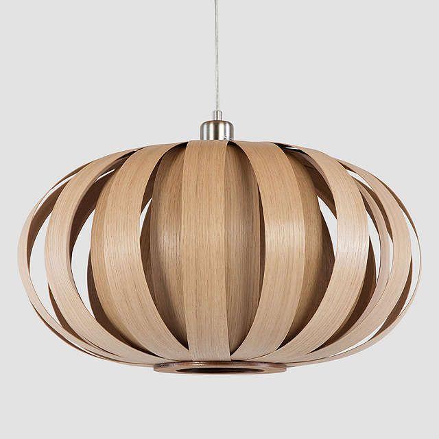 BuyTom Raffield Urchin Pendant Ceiling Light, 53cm, Oak Online at johnlewis.com