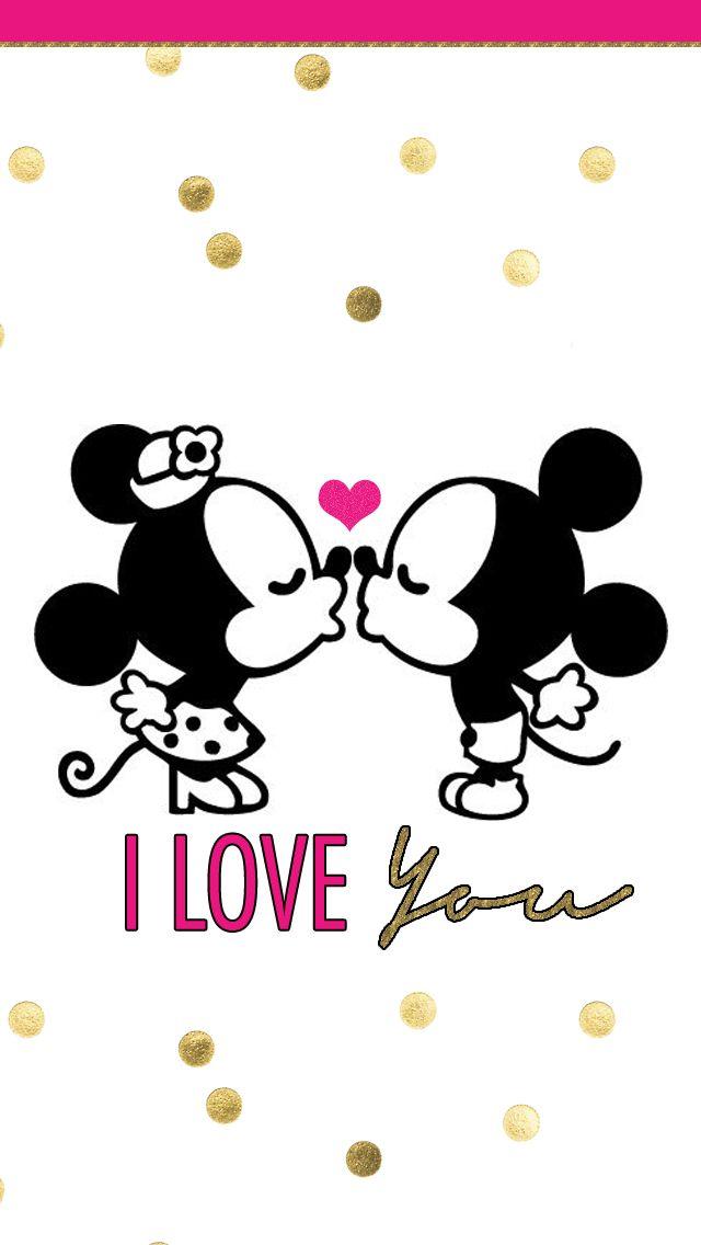 Mickey and Minnie love.