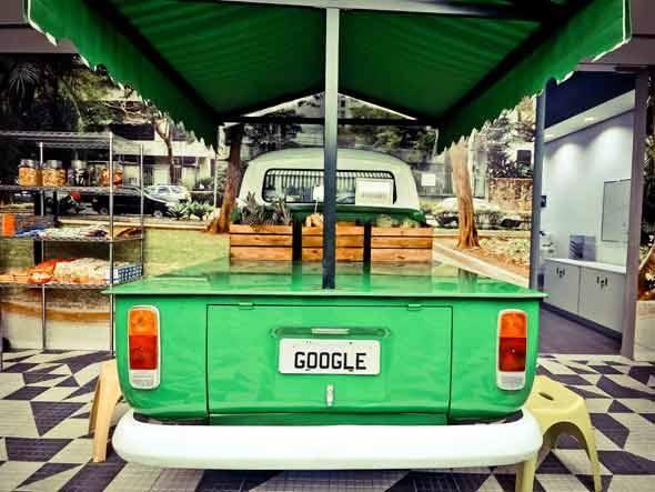 Micro Kitchen Feira Livre do escritório do Google Brasil em São Paulo
