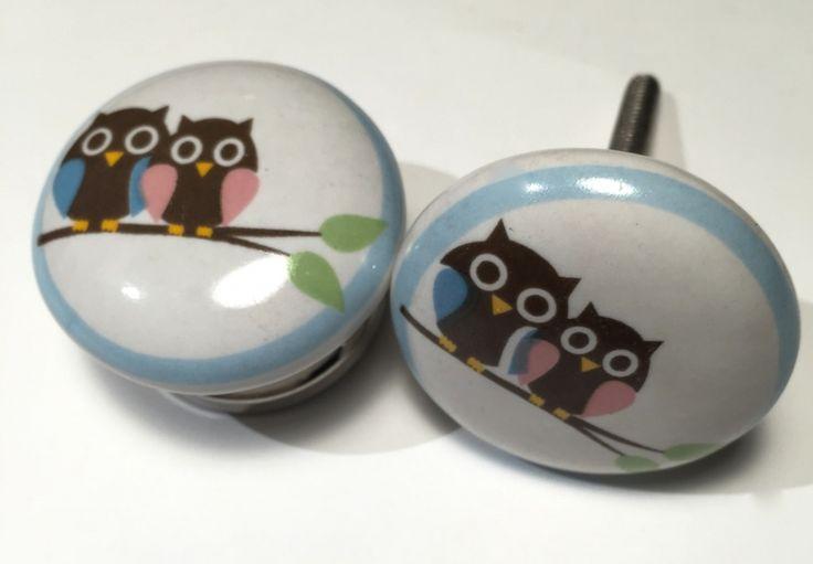 027 Kastknop Two Owls, uil