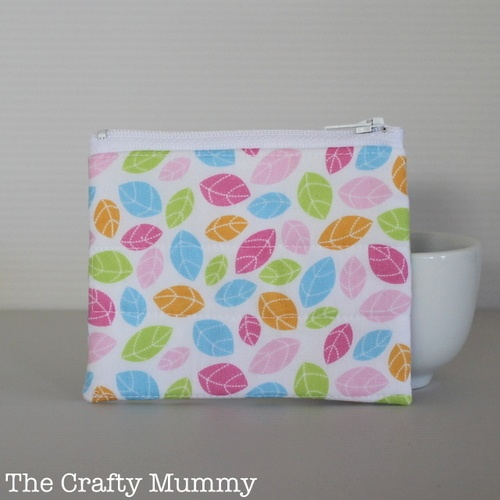 Pastel Leaves Coin Purse | TheCraftyMummy.com/Shop | $9