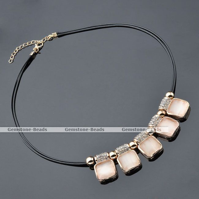 1x Korean Style Square Cat's Eye Gem Crystal Bead Bib Choker Black Cord Necklace #Choker  http://www.ebay.com/itm/1x-Korean-Style-Square-Cats-Eye-Gem-Crystal-Bead-Bib-Choker-Black-Cord-Necklace-/390950344729?pt=LH_DefaultDomain_0&hash=item5b0674d819