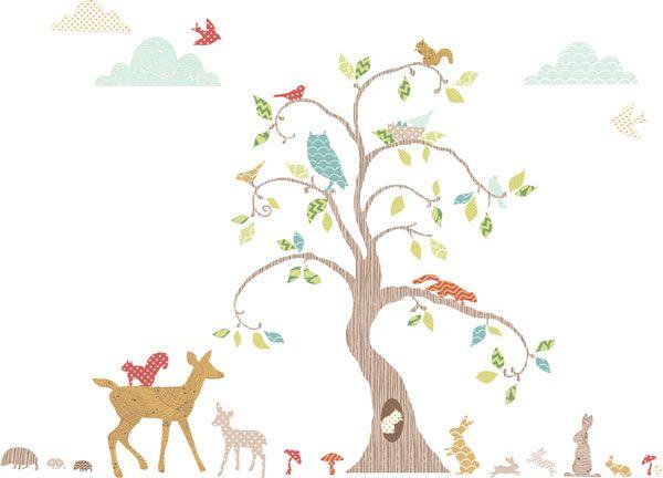 Woodland Tree Nursery Decor Pack