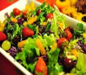 Receita de salada colorida