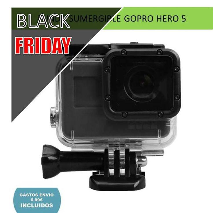 Apuntate al Black Friday y aprovecha los descuentos y ofertas en todos los accesorios para GoPro. Funda sumergible para camara deportiva GoPro Hero 5