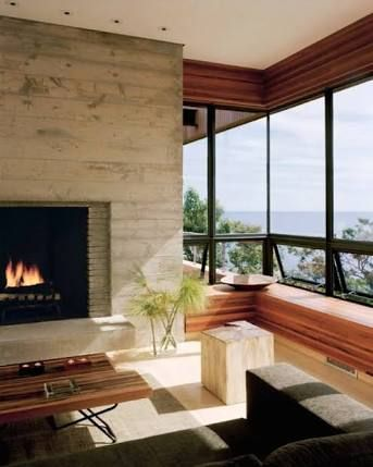Image result for modern tiled fireplace