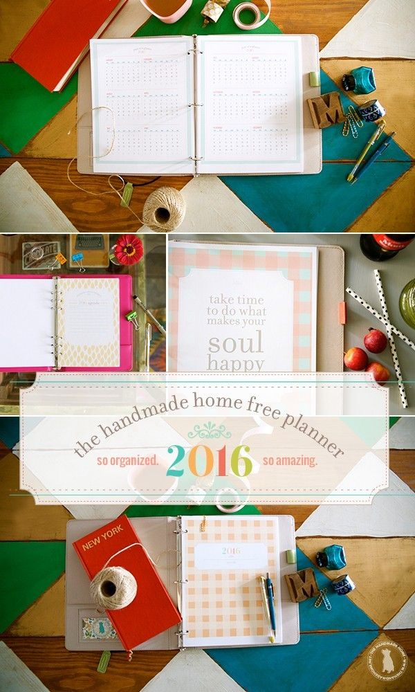 Totally customizable FREE 2017 planner by The Handmade Home!!! So many colors, options, and sweet sweet organization!
