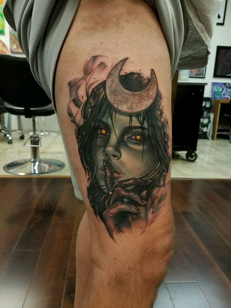 My Enchantress - Sarah Miller Wyld Chyld Tattoo Pittsburgh PA.
