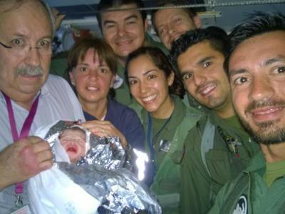Bebé nasce a bordo de avião da Força Aérea [DR]