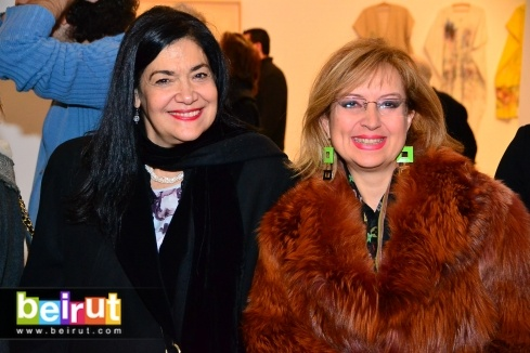 Photo from Huguette Caland Exhibition at Beirut Exhibition Center album...