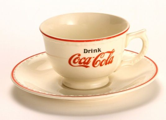 1930s Coke cup and saucer jpg