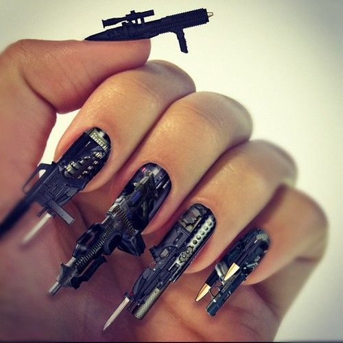 A lil nuts lol dont ya think? Awesome nail design! Visit our website: www.lvnailart.com