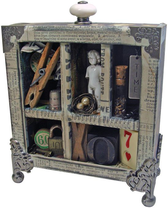 Configurations Shadow Box by Tim Holtz Idea-ology x Inches Paper  sc 1 st  Pinterest & 967 best Craft: Shadow Boxes images on Pinterest | Altered art ... Aboutintivar.Com