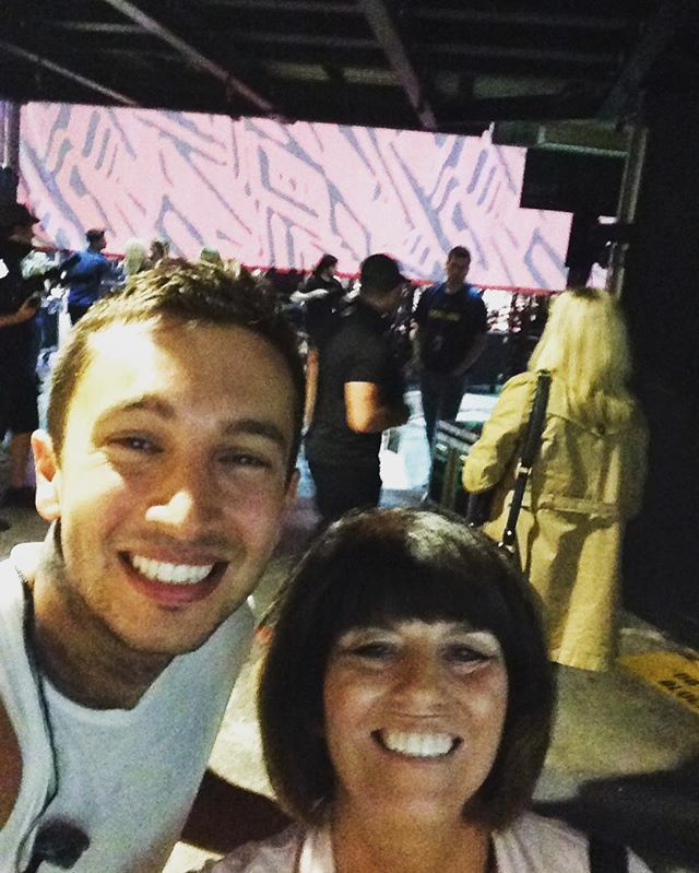 """Happy birthday 🎉 Tyler Joseph.  Thanks for keeping an eye on Josh while you're on the road. Remember, he shouldn't have too much chocolate!"" @mammadun on instagram"